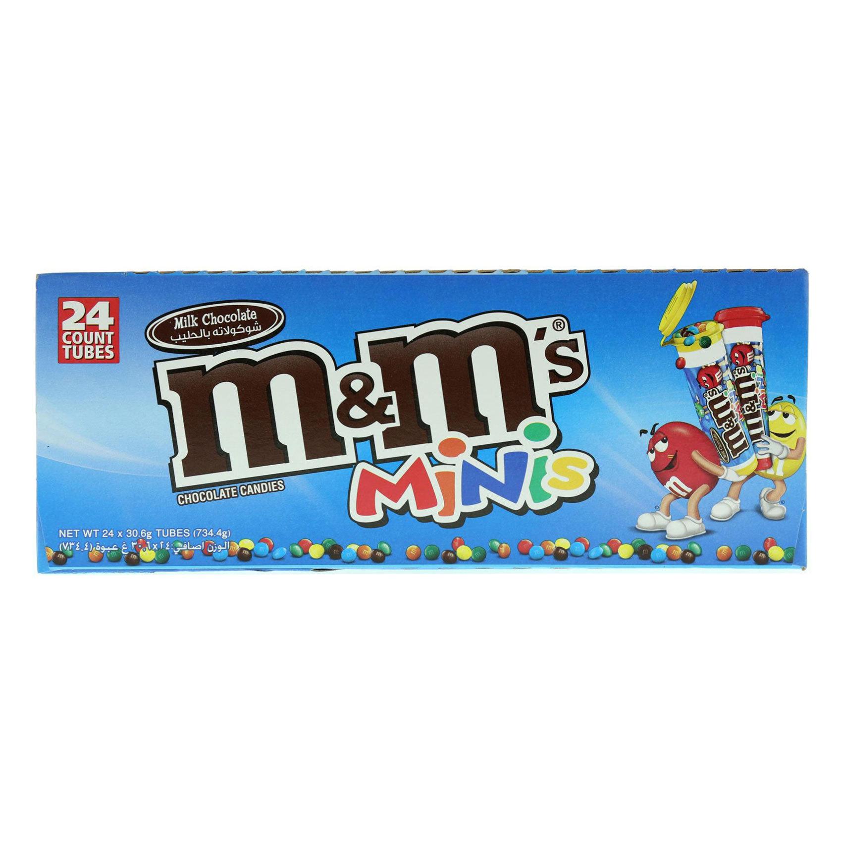 M&M'S MINI TUBE 30.6GRX24