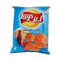 ليز شيبس بطاطا بنكهة الكاتشب الطماطم 75 غرام