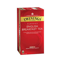 Twinings  English Breakfast 25 Sachets 12 Count + Cap
