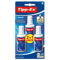 BIC Tipex Rapid Correction Fluid Bottle 20ml (2+1)