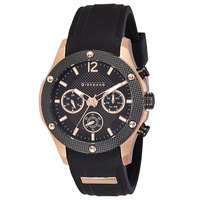 Giordano Men's Watch Multi Function Display Black Dial Black Intigrated Silicon Strap - 1769-04