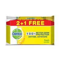 Dettol Wipes Fresh 20 Sheets 2+1 Free