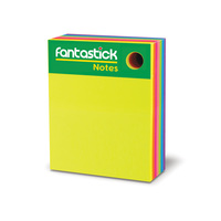 "Fantastick Stick note 3X4""7Color Fluor"