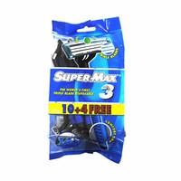 Supermax Men Triple Blades Razors 10 Pieces +4 free