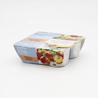 كارفور صلصة التفاح والخوخ 100 جرام  × 4