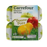 Carrefour Compote Apple Pear 100 g x 4