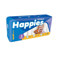 Happies Diapers Giant Pack + Regular + Mattress Size 1