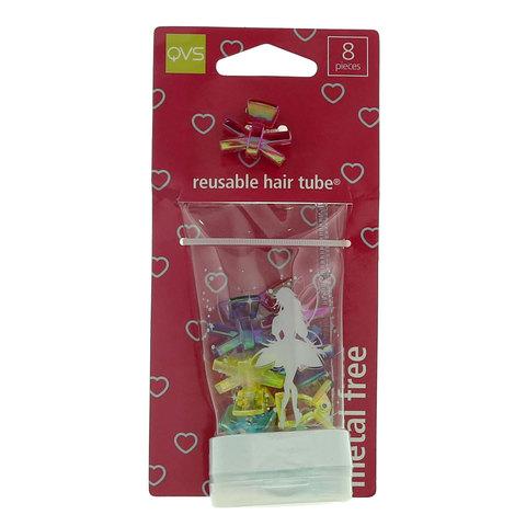 Qvs-Mini-Claw-Grips-Reusable-Flip-Top-Hair-Tube-8-Pieces