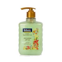 Higeen Hand & Body Liquid Soap Creamy Apple 500ML + 2 Loofa Free