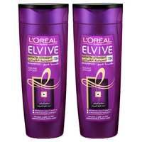 L'OREAL Elvive Shampoo Keratin Straight 400 Ml 2 Pieces