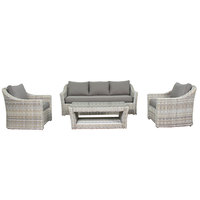 Felicid Aluminium Sofa Set With Brown Cushion