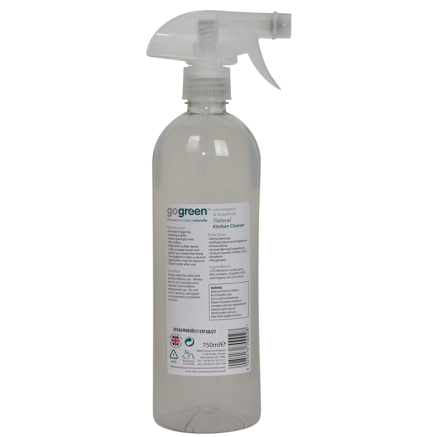 GO GREEN KITCHEN CLEANER 750ML