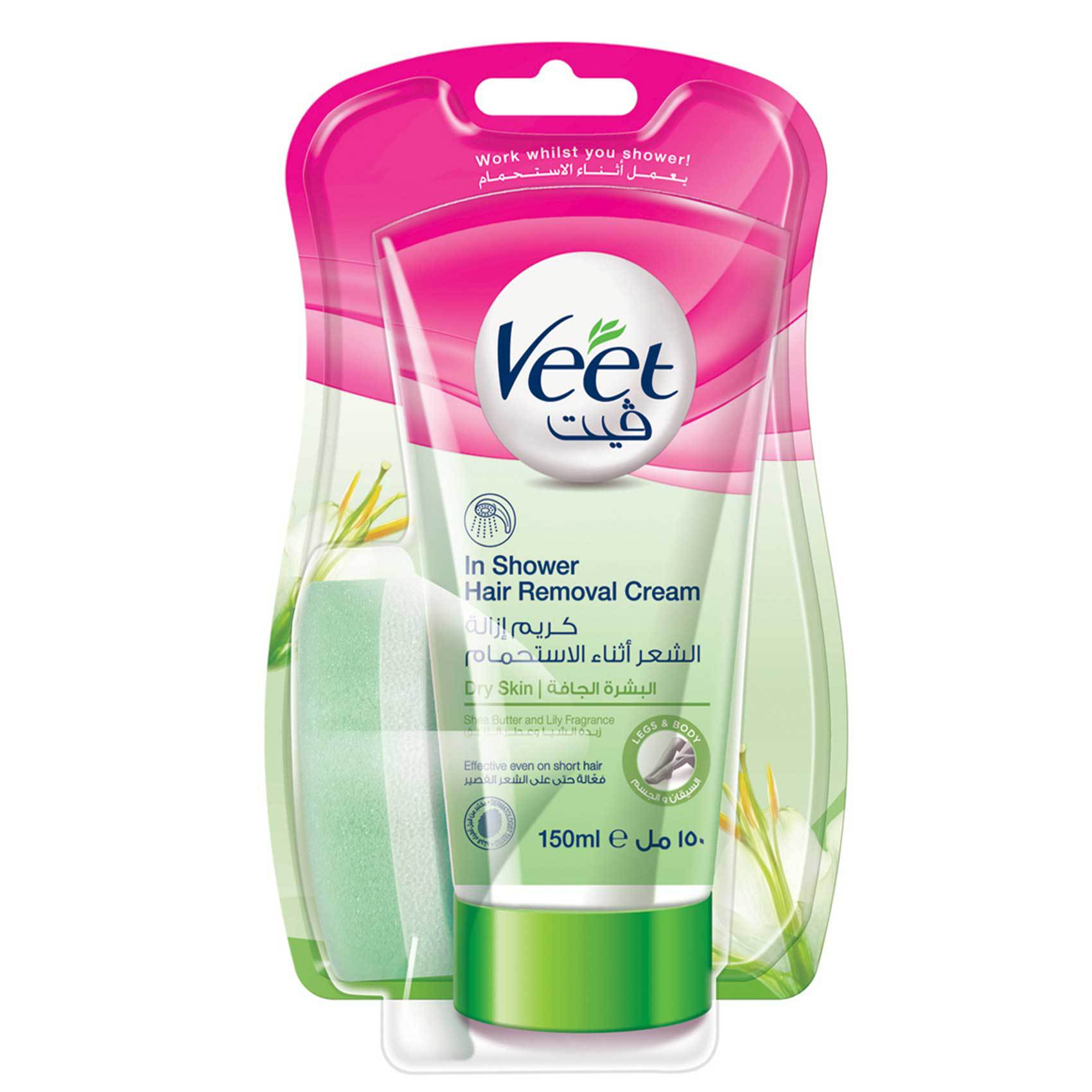 VEET HAIR RMV IN SHWR CRM ALOE 150M