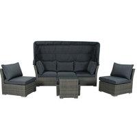 Iris Aluminium Sofa Bed With Cushions