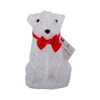 Christmas Led Acrylic Seated Bear 16 Cwh 16X12X14 Cm