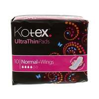 Kotex Ultra Pads Normal Plus 10 Serviettes X2 + Pouch