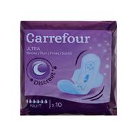 Carrefour Ultra Thin Night Sanitary Pads x10