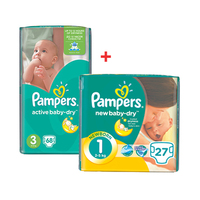 Pampers Diapers 68 Sheets