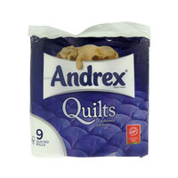 Andrex Toilet Tissue 9 Quilted Rolls