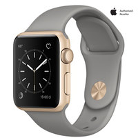 Apple Watch Series-1 38mm Gold Aluminium Case With Concrete Sport Band