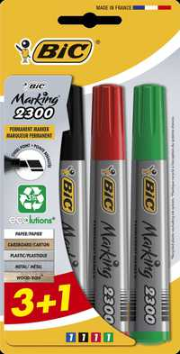 Bic 2300 P/Marker Chisel Assorted Bl3+1