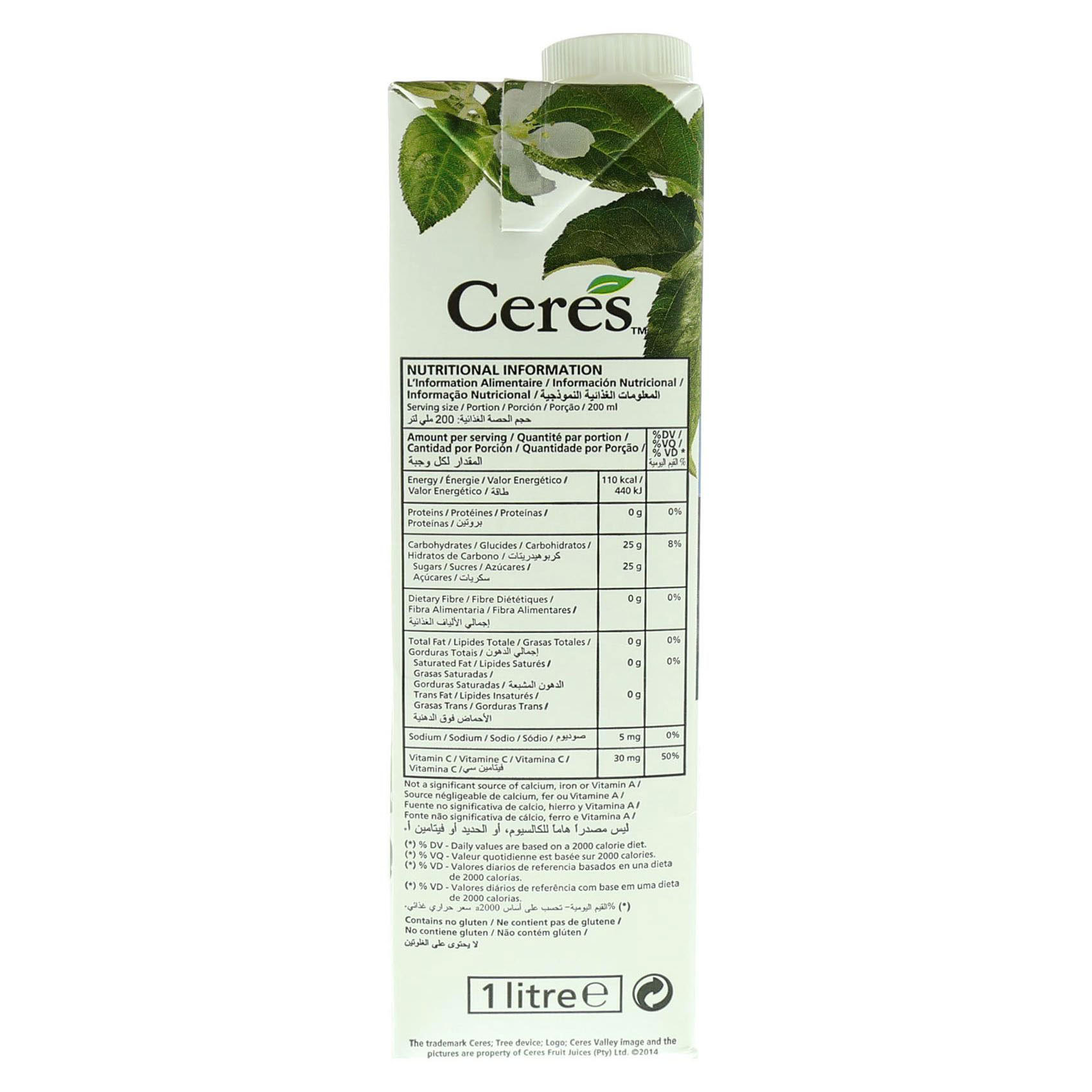 CERES JUICE SECRET OF THE VALLEY 1L