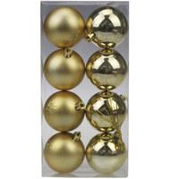 Balls Set 8Pcs 6Cm Gold