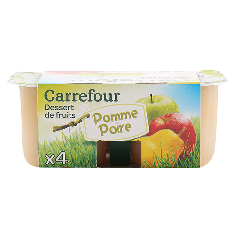 Carrefour-Compote-Apple-Pear-100gx4
