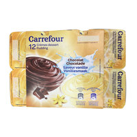 Carrefour Vanilla Chocolate Pudding 125 g x 12