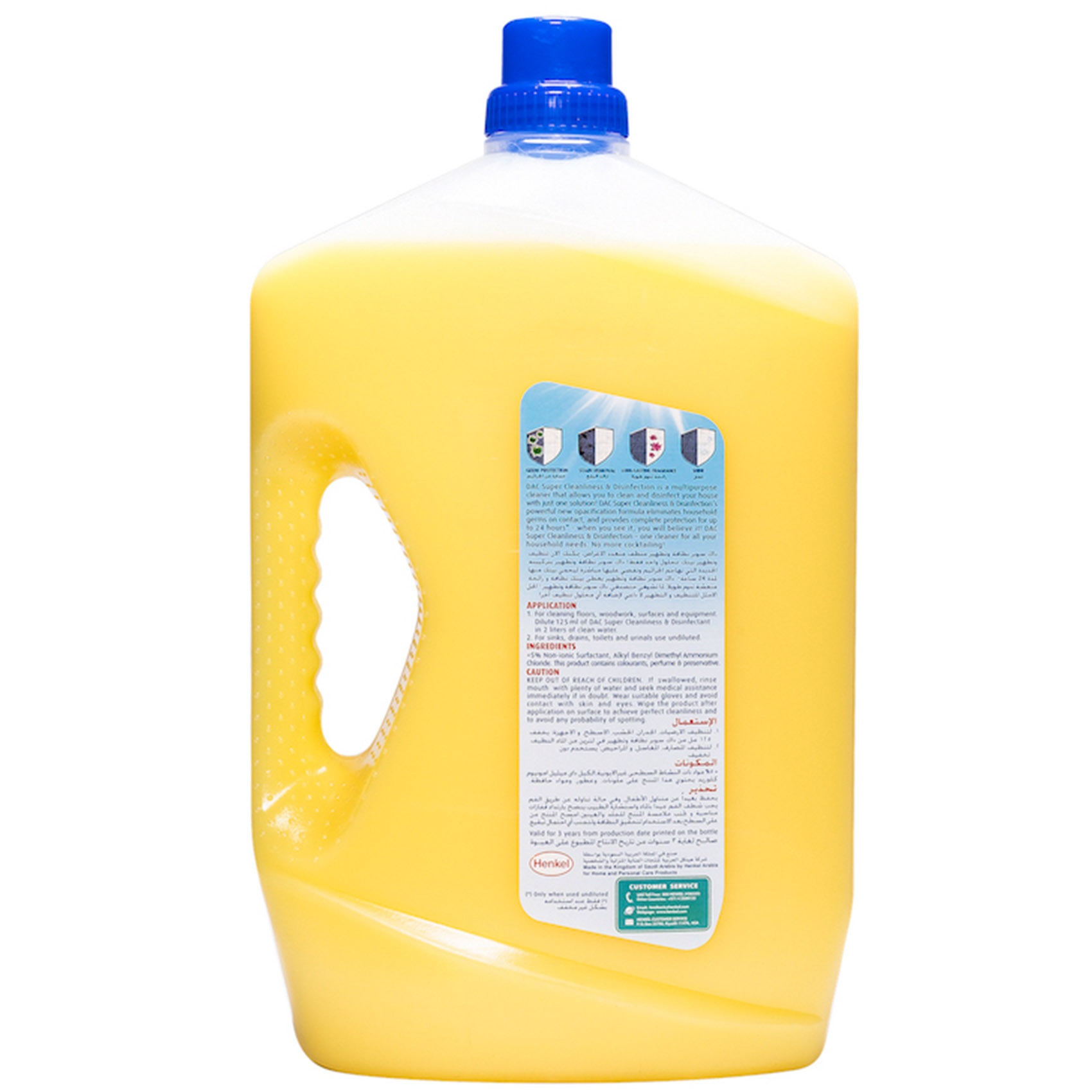 DAC DISINFECTANT PLUS MPC LEMON3 L
