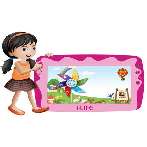 "iLife-Tablet-Kids-Tab-Quad-Core-1.2Ghz-512MB-RAM-8GB-Memory-7""-Pink"