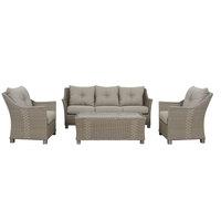 Saalma Aluminium Wicker Sofa Set 4Pcs