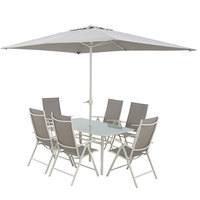 Textline Patio Set 8Pcs Without Umbrella Base