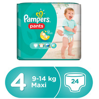Pampers Pants Diapers Size 4 Maxi 9-14 kg Carry Pack 24 Diapers