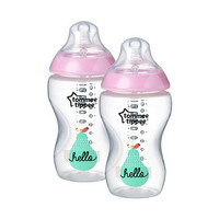 Tommee Tippee Closer To Nature Bottle Pink 340ML X2