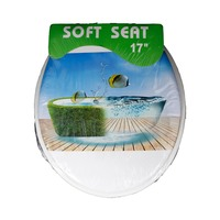 Soft Toilet Lid Printed Designs 17 Inch