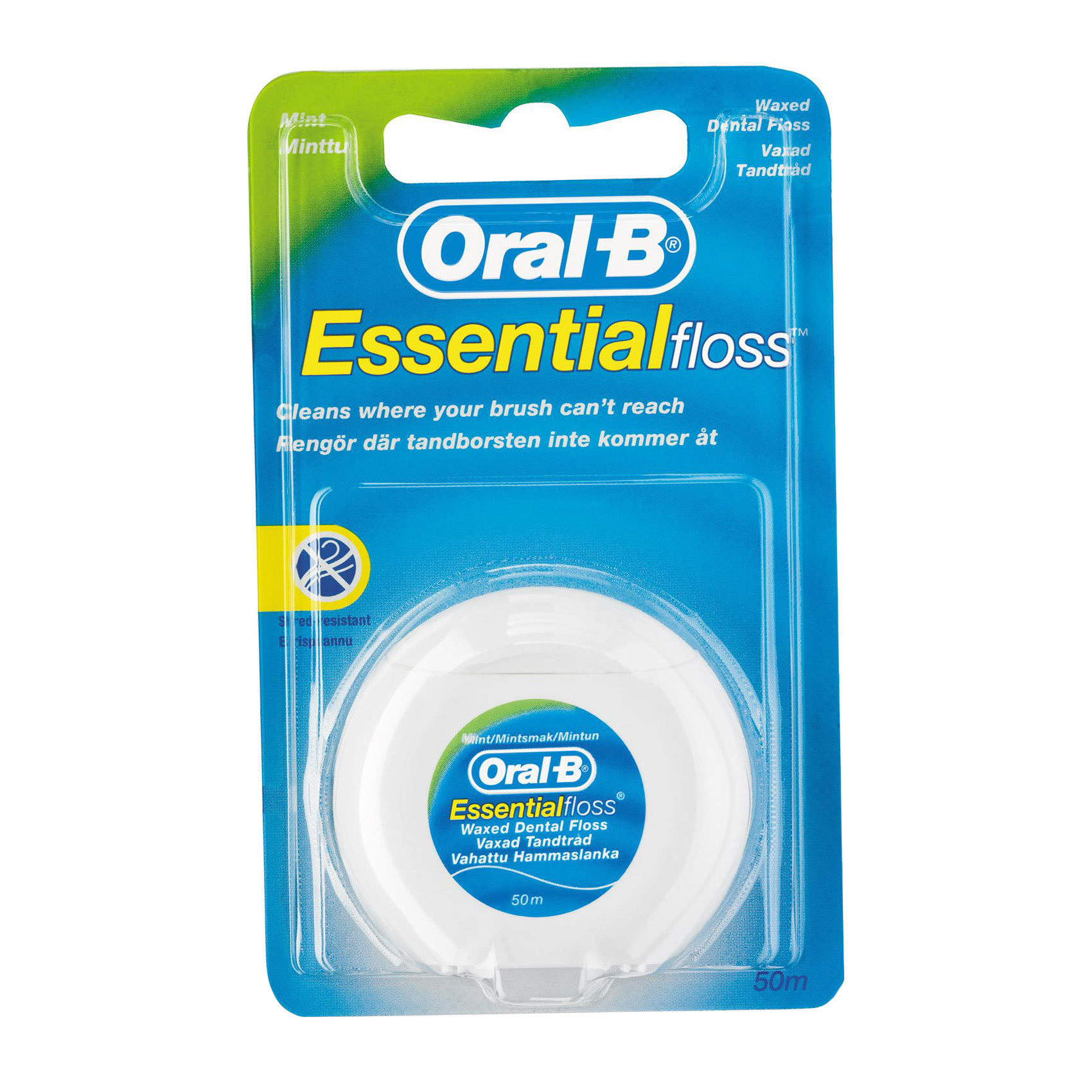 ORAL B DENTAL FLOOS MINT WAXED 50M