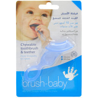 Brush-Baby's Chewable Toothbrush and Teether Blue