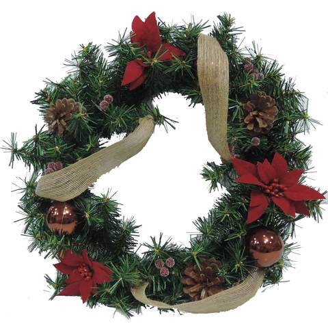 Wreath-With-Ball-Flower-Pinecone-Decoration-Coffee-45Cm
