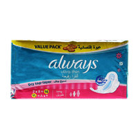 Always Ultra Thin Dry Top-Layer Long (2X8) 16 Pads