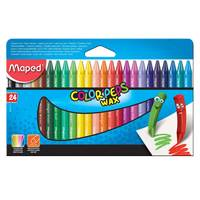 Maped 24 Color Peps Wax Crayons