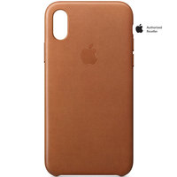 Apple Case iPhone X Leather Saddle Brown