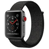 Apple Watch Series-3 42mm GPS+ Cellular Space Gray Aluminium Case With Black Sport Loop (MRQH2AE/A)