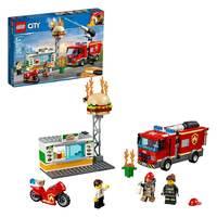 Lego City Burger Bar Fire Rescue Building Kit