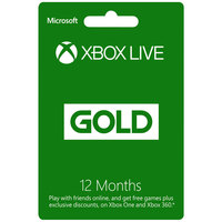 Microsoft Xbox Live 12 Months Gold