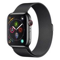 Apple Watch Series-4 GPS + Cellular 44mm Space Black Stainless Steel Case with Space Black Milanese Loop (MTX32AE/A)