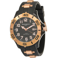 Mount Royale Men's Watch Black Dial Rubber Band Dress -7S37