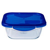 Pyrex Cook&Go Food Container Square With Lid 1.7L