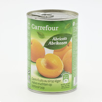 Carrefour Apricots In Light Syrup 410 g