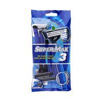 Supermax Men Razors 3 Blades Pack Of 5